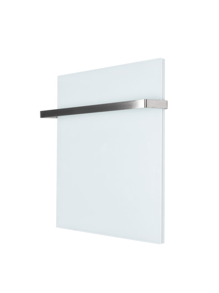 400W Infrarot Badheizung in weiß mit Handtuchhalter