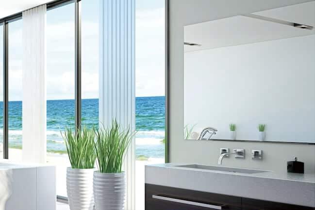Spiegel Infrarotheizung im Badezimmer