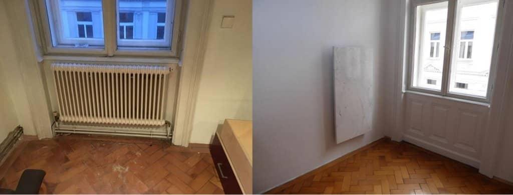Marmor Infrarotheizung Schlafzimmer