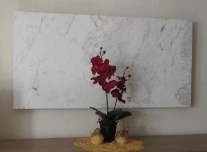 Marmor Infrarotheizung installiert