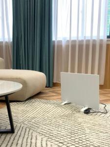 Mobile Infrarotheizung im Wohnzimmer produktbild