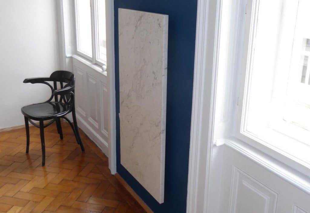 Marmor IR Heizung in einer Wohnung