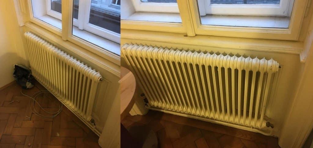 Gasheizung Radiatoren Wohnzimmer alt